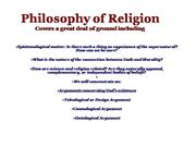 Philosophy of Religion: Design Argument