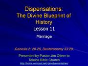 Dispensations Lesson 11
