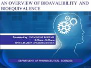 bioavailability and bioequivalence