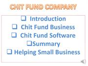 Chits Funds Rules, Chit Fund Business In India, Chitty Business, Chit