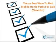 The 10 Best Ways To Find Mobile Home Parks For Sale