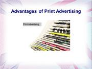Advantages of Print Advertising - Create web