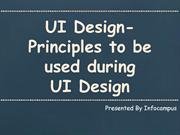 UI Design- Principles to be used during UI Design