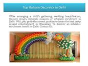 Top  Balloon Decorator in Delhi