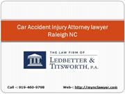 Car Accident Injury Attorney lawyer Raleigh NC