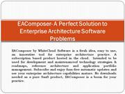 EAComposer- A Perfect Solution to Enterprise Architecture Software