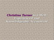 Christina Turner Specializes in Accounting and TAX services