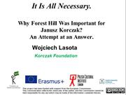 Why Forest Hill Was Important for Janusz Korczak