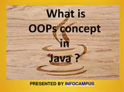 What is OOPs concept in Java ?