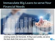 Immaculate Big Loans to serve Your Financial Needs