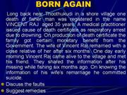 Birth and Death case  studies - G P Baskaran AD SBHI