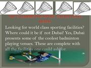 Top 5 badminton sport Facilities in Dubai