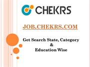 Jobs.Chekrs.Com (Govt. Jobs/ State, Category & Education wiseJobs