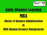 Amity distance learning MBA in HRM (human resource management)