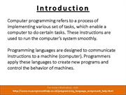 How to Get Start Programming Assignment with MyAssignmenthelp