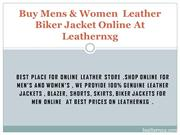 Buy Mens & Women  Leather Biker Jacket Online