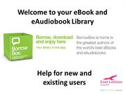 Welcome to your eBook and eAudiobook Library