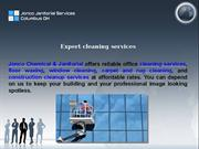 Commercial Office Cleaning, Janitorial Service and Building clean-up C