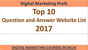 Top 10 Question And Answer Website List 2017