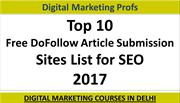 Top 10 Free DoFollow Article Submission Sites List For Seo 2017