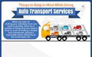 Hiring Auto Transport Services