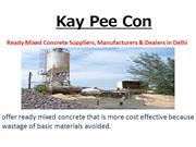 Kay Pee Con - Best Concrete's Special Products & Services launched
