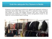 Grab the adequate Dry Cleaners in Noida