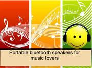 Portable bluetooth speakers for music lovers