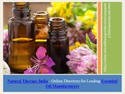 Buy Essential Oil Online from Leading Manufacturers - Natural  Therapy