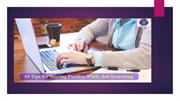 10 Tips for Staying Positive While Job Searching !!