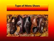 Type of Mens Shoes