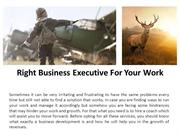 Right Business Executive For Your Work