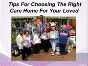 Few Points for choosing the right care homes
