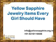 Yellow Sapphire Jewelry Items Every girl should have