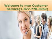 @ 1-877-778-8969 MSN TECH *1-877*-778-*8969 SUPPORT Customer Service