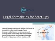 Legal formalities for Start-ups