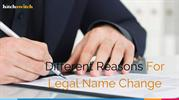 Different Reasons For Legal Name Change