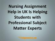 Nursing Assignment Help and Nursing Homework Help Services