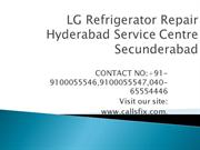 LG Refrigerator Repair Hyderabad Service Center Secunderabad