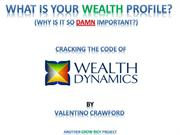 Wealth Dynamics-What is Your Wealth Profile