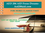 AED 204 AID Focus Dreams-Aed204aid.com