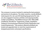 Brilltech Earthing solution and cable tray Manufacturers India