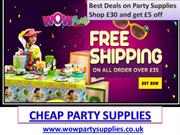 Cheap Party Supplies  Party Supplies Online  Party Supplies UK