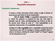 unit 3 negotiable instruments
