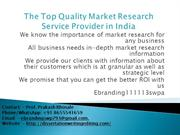The Top Quality Market Research Service Provider in