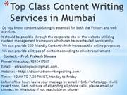 Top Class Content Writing Services in Mumbai