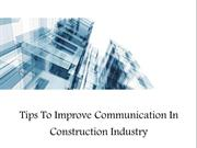 Tips To Improve Communication In Construction Industry