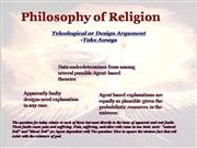 Philosophy of Religion: Problem of Evil