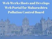 Web Werks Hosts and Develops Web Portal for Maharashtra Pollution Cont