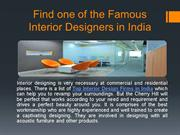 Find one of the Famous Interior Designers in India